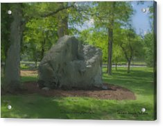 The Rock At Frothingham Park, Easton, Ma Acrylic Print