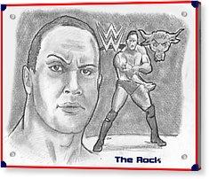 The Rock Acrylic Print by Chris  DelVecchio