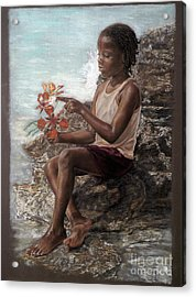 The Rock Garden Acrylic Print