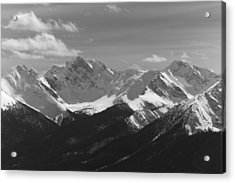 Acrylic Print featuring the photograph The Rockies - B/w by Josef Pittner
