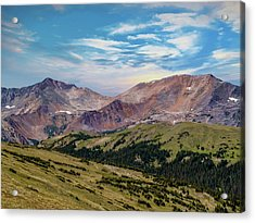 The Rockies Acrylic Print by Bill Gallagher