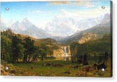 The Rocky Mountains, Lander's Peak, C. 1863 Acrylic Print