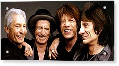 Acrylic Print featuring the painting The Rolling Stones by James Shepherd