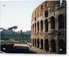 Acrylic Print featuring the photograph The Roman Colosseum by Marna Edwards Flavell