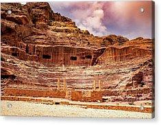The Roman Theater At Petra Acrylic Print