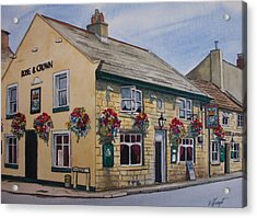 The Rose And Crown Otley Yorkshire Acrylic Print by Victoria Heryet