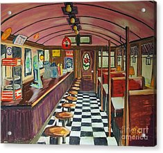 The Rose Diner Acrylic Print