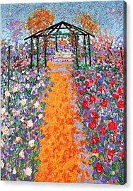 The Rose Garden Acrylic Print by Richard Tuvey