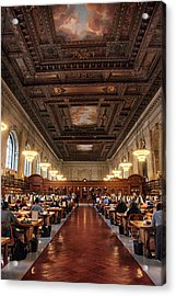 Acrylic Print featuring the photograph The Rose Reading Room II by Jessica Jenney