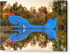 Acrylic Print featuring the photograph The Route 66 Blue Whale - Catoosa Oklahoma by Gregory Ballos