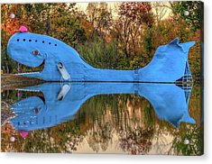 Acrylic Print featuring the photograph The Route 66 Blue Whale - Catoosa Oklahoma - IIi by Gregory Ballos