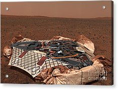 The Rovers Landing Site, The Columbia Acrylic Print by Stocktrek Images