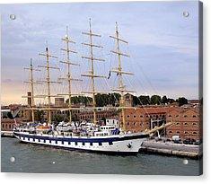 The Royal Clipper Docked In Venice Italy Acrylic Print