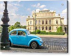 The Rudolfinium In Prague Acrylic Print by Jim Hughes