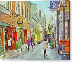 The Rue Du Petit Champlain In Quebec City Acrylic Print