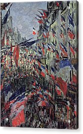 The Rue Saint Denis Acrylic Print by Claude Monet