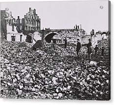 The Ruins Of Richmond, Virginia, 1865  Acrylic Print by Andrew Joseph Russell