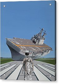 Acrylic Print featuring the painting The Runway by Scott Listfield