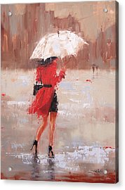 Acrylic Print featuring the painting The Rush by Laura Lee Zanghetti