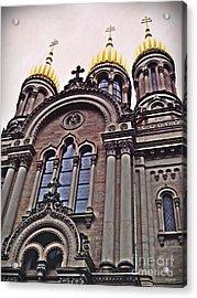 The Russian Church In Wiesbaden 2 Acrylic Print by Sarah Loft