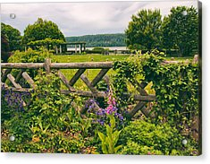 The Rustic Fence Acrylic Print