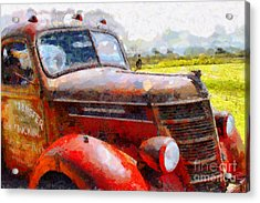 The Rusty Old Jalopy . 7d15509 Acrylic Print by Wingsdomain Art and Photography