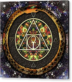 Acrylic Print featuring the digital art The Sacred Alchemy Of Life by Iowan Stone-Flowers