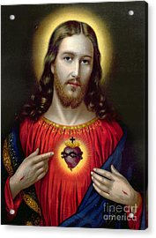 The Sacred Heart Of Jesus Acrylic Print