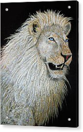The Sacred Spirit Of The White Lion Acrylic Print by Michael Durst