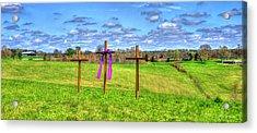 The Sacrifice Jesus Christ Remembered Christian Art Acrylic Print by Reid Callaway