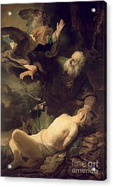 The Sacrifice Of Abraham Acrylic Print by Rembrandt