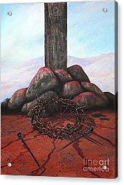 The Sacrifice Of His Love Acrylic Print by Michael Nowak