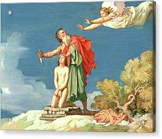 The Sacrifice Of Isaac Acrylic Print by Hippolyte Flandrin