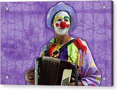 The Sad Clown Acrylic Print