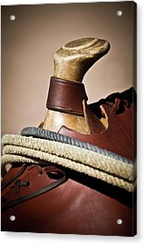 The Saddle Acrylic Print by Swift Family