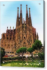 The Sagrada Familia Acrylic Print by Sue Melvin