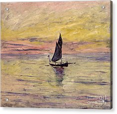 The Sailing Boat Evening Effect Acrylic Print by Claude Monet