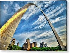 The Saint Louis Arch And City Skyline Acrylic Print by Gregory Ballos