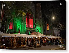 The Salem Witch Museum Halloween Weekend Salem Ma Acrylic Print by Toby McGuire