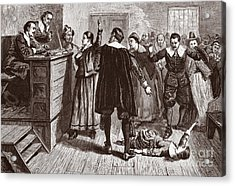 The Salem Witch Trials Acrylic Print by American School