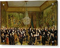 The Salon Of Alfred Emilien At The Louvre Acrylic Print by Francois Auguste Biard