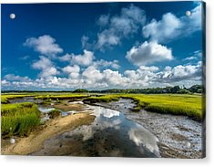 The Salt Marshes, Wellfleet Ma Acrylic Print by Dapixara Art