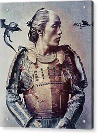 The Samurai And The Dragons Acrylic Print