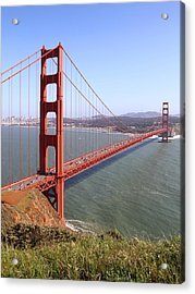 The San Francisco Golden Gate Bridge . 7d14504 Acrylic Print by Wingsdomain Art and Photography