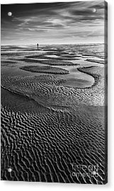 The Sand Pattern Acrylic Print by Masako Metz