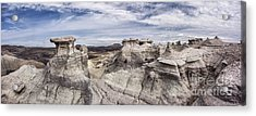 Acrylic Print featuring the photograph The Sandcastles by Melany Sarafis