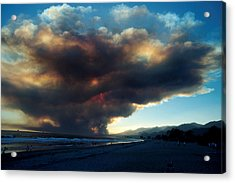 The Santa Barbara Fire Acrylic Print by Jerry McElroy
