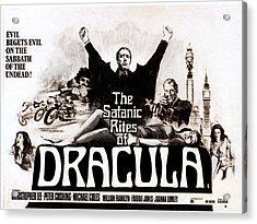 The Satanic Rites Of Dracula, Center Acrylic Print by Everett