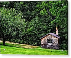 The Sauna By Sharon Cummings Acrylic Print