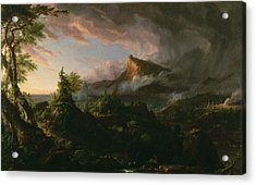 The Savage State Acrylic Print by Thomas Cole